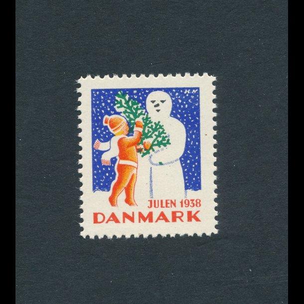 1938, Julemærke, Danmark, Snemand,