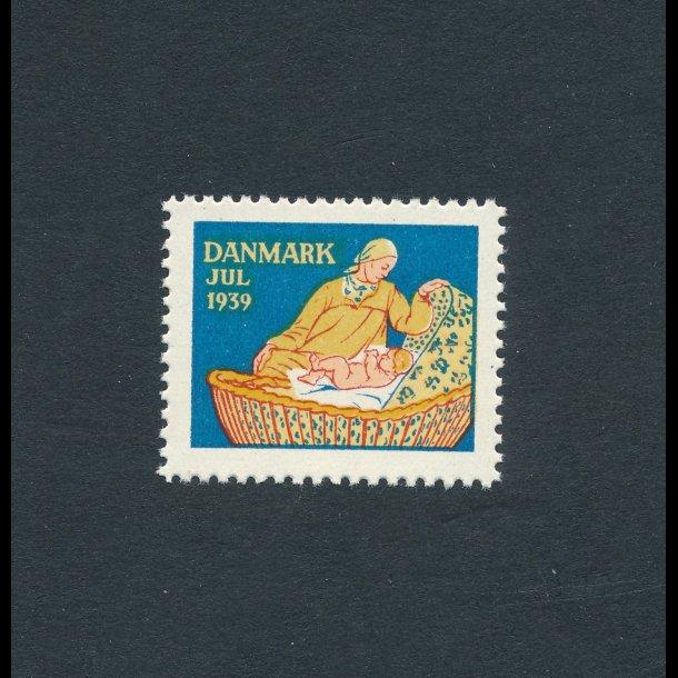1939, Julemærker, Danmark, Mor med barn i kurv,