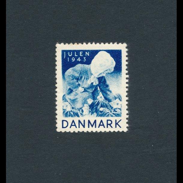 1943, Julemærke, Danmark, Lille pige,