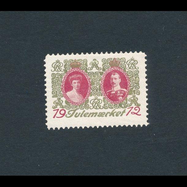 1912, Julemærke, Danmark, Kong Christian X og Dronning Alexandrine, enkelt mærke,