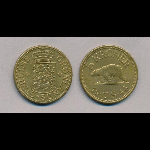 1944, 5 kroner,