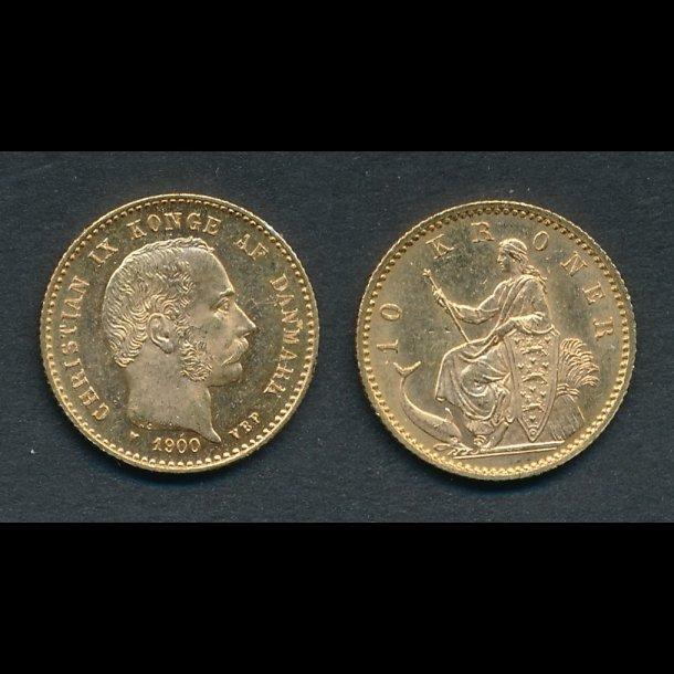 1900, Christian IX, 10 kroner, 0 / 01