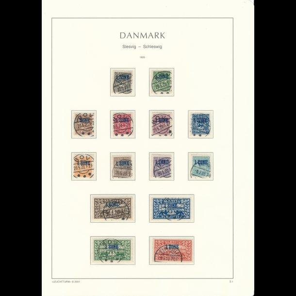 .1-14, Danmark/Slesvig, ʘ, frimærker, 1 Zone,