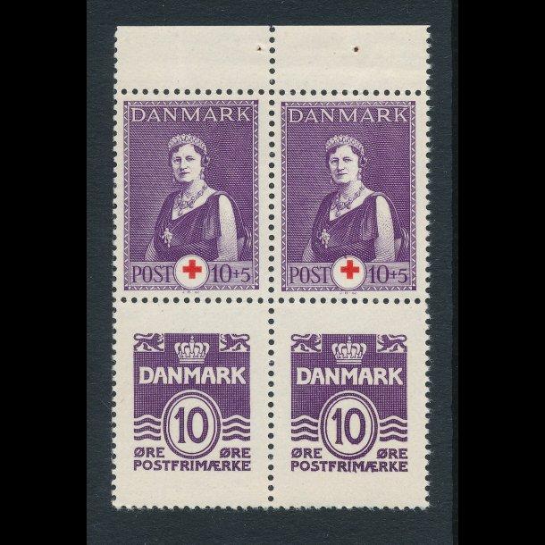 1939, Dronning Alexandrine og Røde Kors, 10 øre med bred rand, 4298