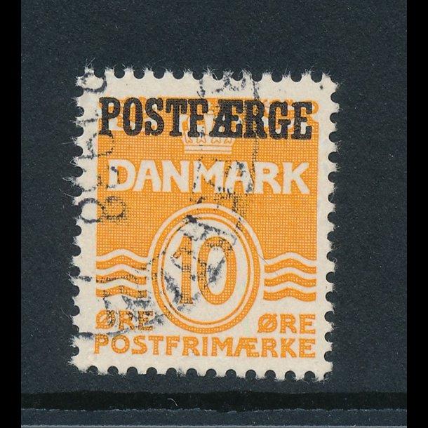 .15, 10 øre postfærge frimærke, ʘ, Danmark, 4380