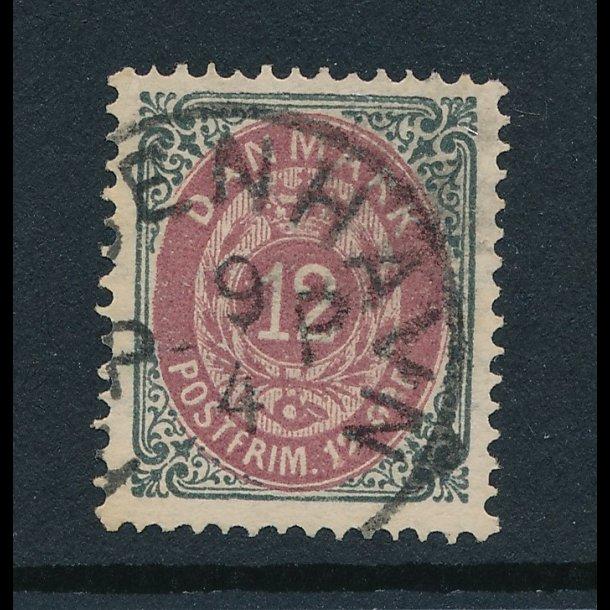 .26a, 12 øre frimærke, Danmark, ʘ, 4364