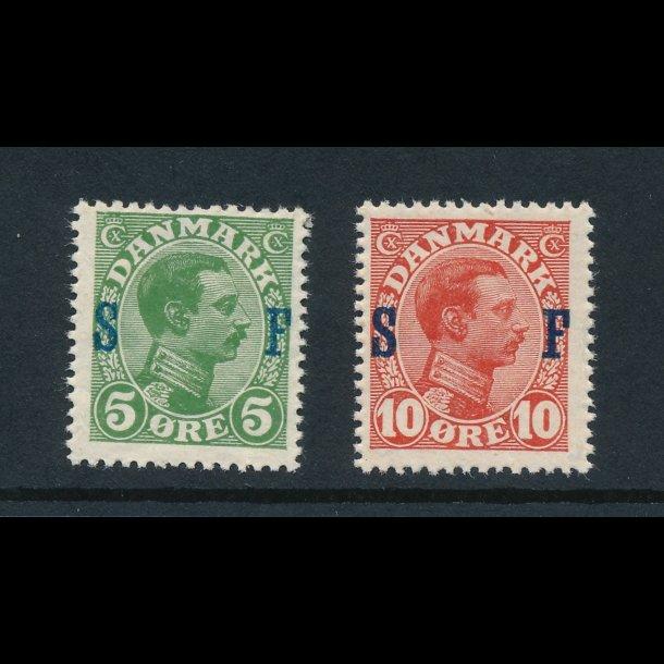 .1-.2, 5 og 10 øre soldaterfrimærker, *,  Danmark, 4378