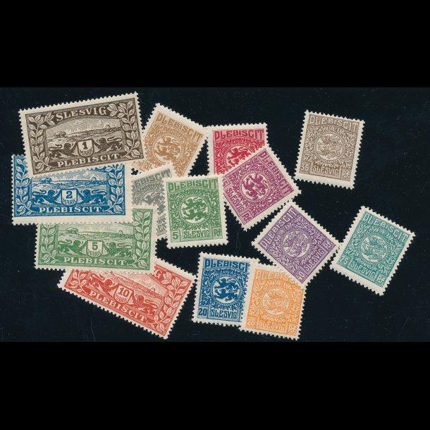 .15-.28, Danmark/Slesvig, 1920,  komplet sæt * (4811)