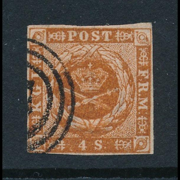 .7, 4 skilling, frimærke, ʘ, 4857