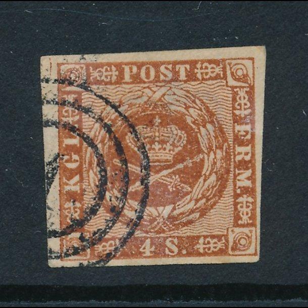 .7 , 4 skilling, frimærke, ʘ, 4858