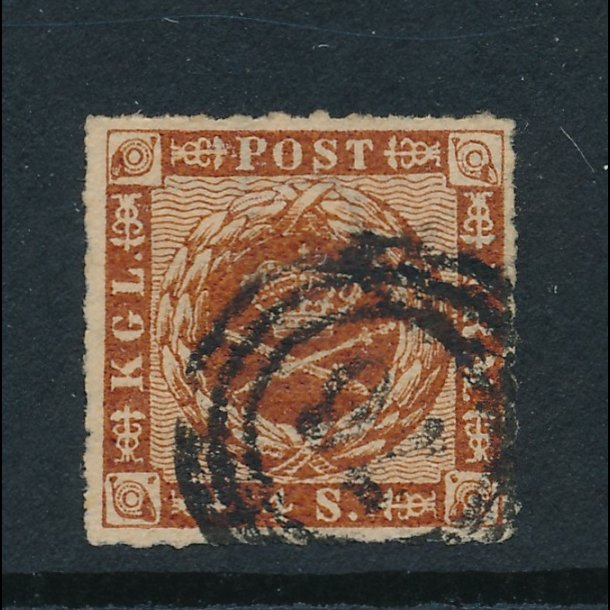 .7, 4 skillings frimærke, ʘ, 4859