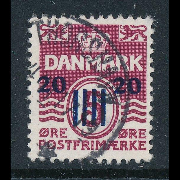 .4, 1941, Færøprovisorie, ʘ, med et stempel, 20 øre på 5 øre, 4568