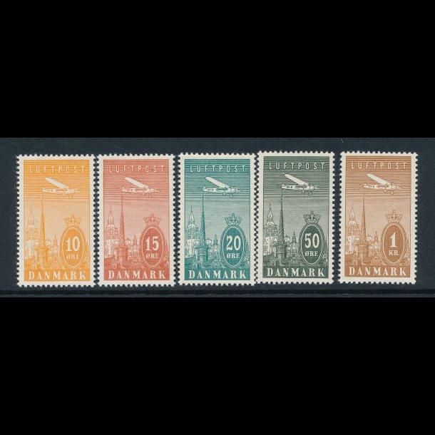 .216-220, Ny luftpost frimærker,**, 4677