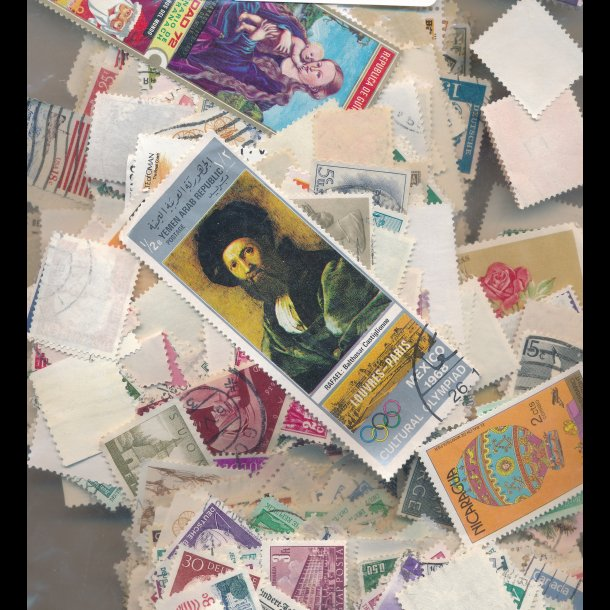 100g Hele verden, vaskede frimærker, 5043