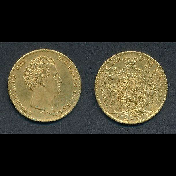 1847, 2 Christian d'or, 01, H1B,