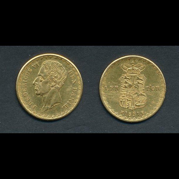 1831, 1 Frederik d'or, 1++, H4B,