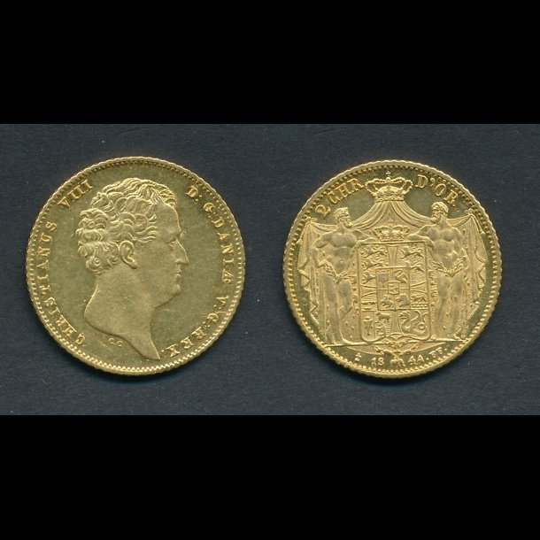 1844, 2 Christien d'or, 0 / 01, H1B,