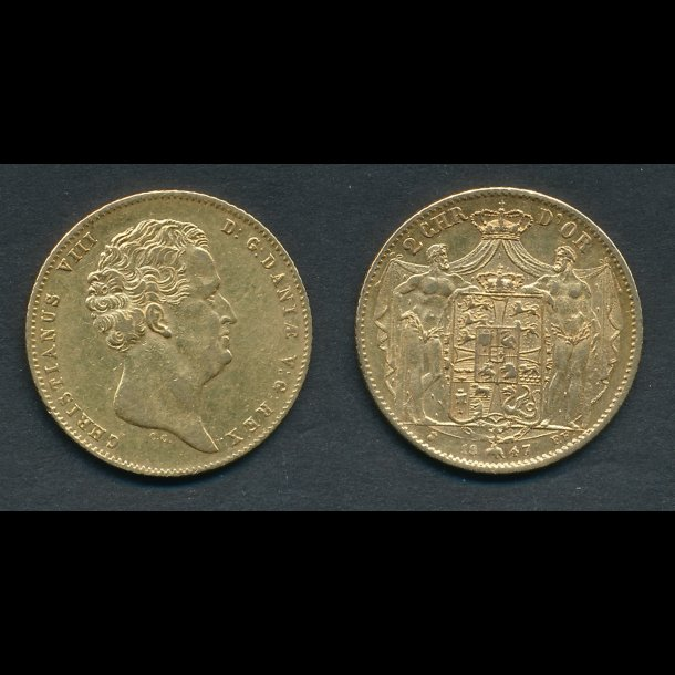 1847, 2 Christian d'or, H1B,
