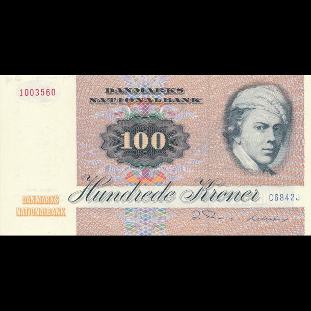 1984, 100 kroner, C6, 0 / 01,