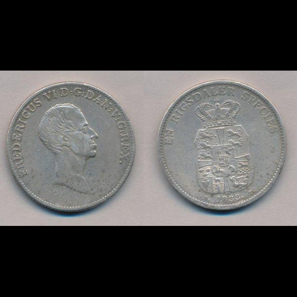 1833 FF, Frederik VI, 1 rigsbankdaler,