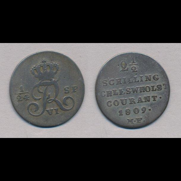 1809, Frederik VI, 1/24 speciedaler, 1,