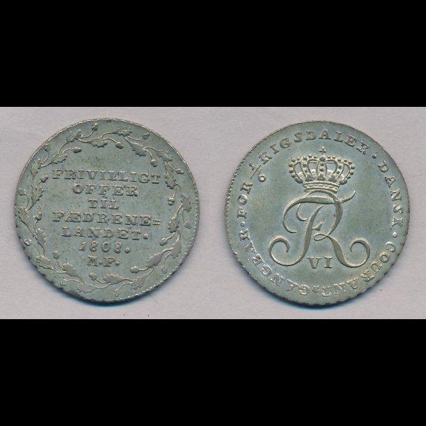 1808, Frederik VI, offermark, 0 / 01,
