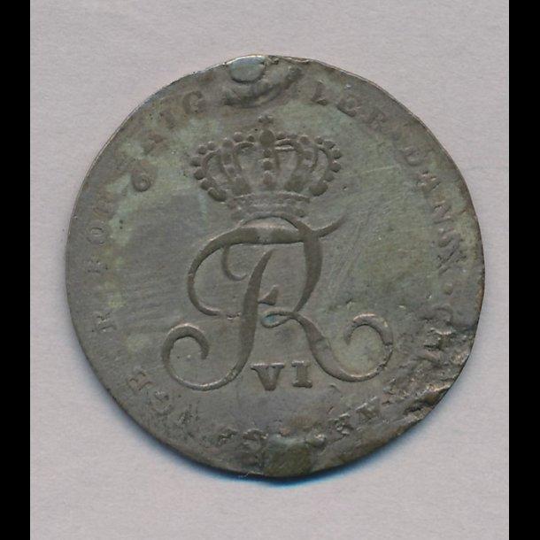 1808, Frederik VI, offermark, anvendt til optrækning af klokkeværk,