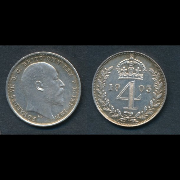 1903, England, Edward VII, 4 pence, Maundy, 01