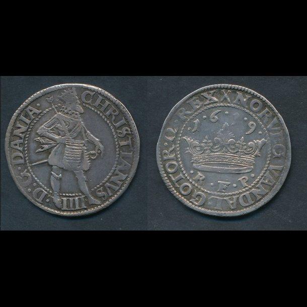 1619, Christian IV, krone, H106B, 1+