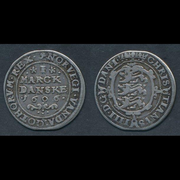 1606, Christian IV, marck, H77C, 1(+)