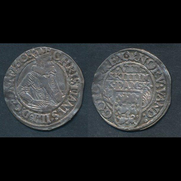 1608, Christian IV, VIII skilling, H96, 1(+)