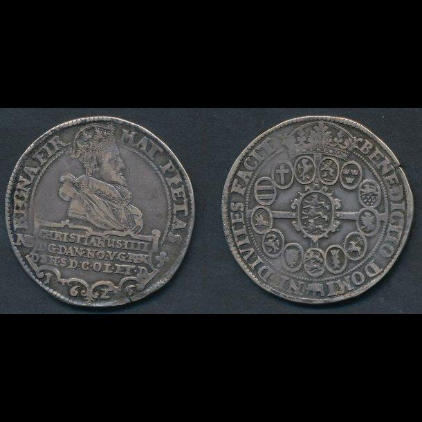 1626, Christian IV, speciedaler, H55A, 1+