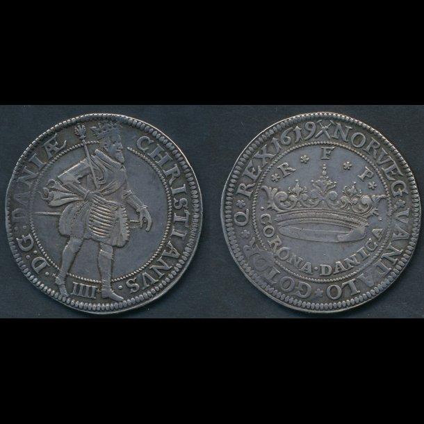 1619, Christian IV, CORONA DANICA, 105B, 1++
