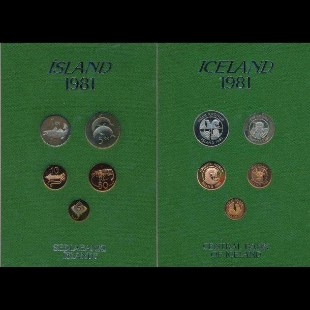 1981, Island, møntsæt, proof