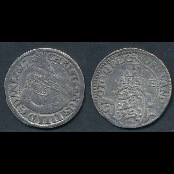1617, Christian IV, 1 marck, H99C, 1+