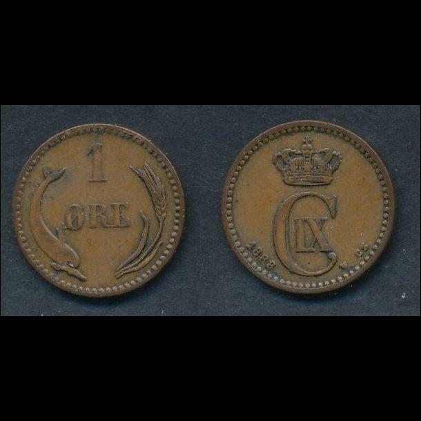 1888, 1 øre, 1+