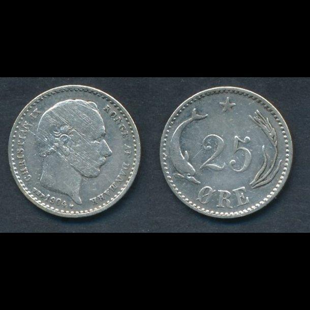 1904, 25 øre, 1