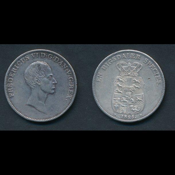 1826, Frederik VI, speciedaler, 1++