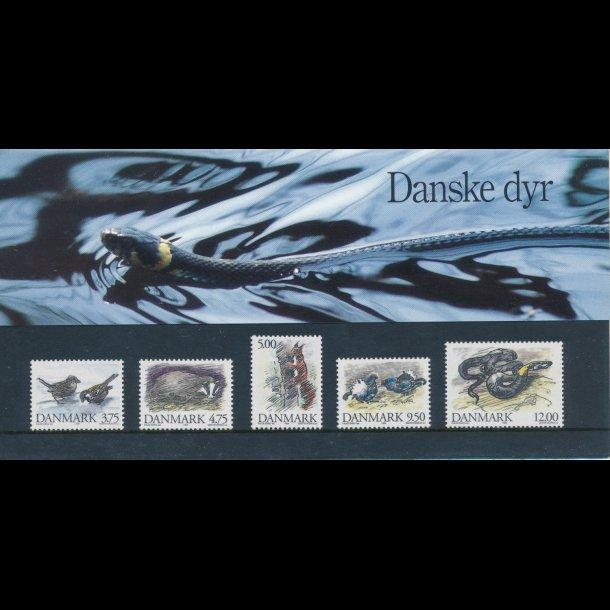 16, Danske dyr, 20.10.1994, AFA nr. 1076-80