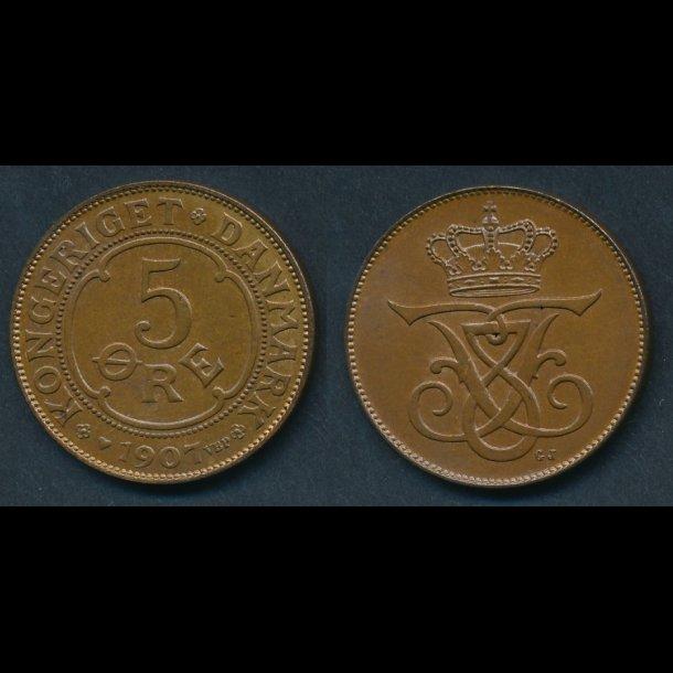1907, 5 øre,  0