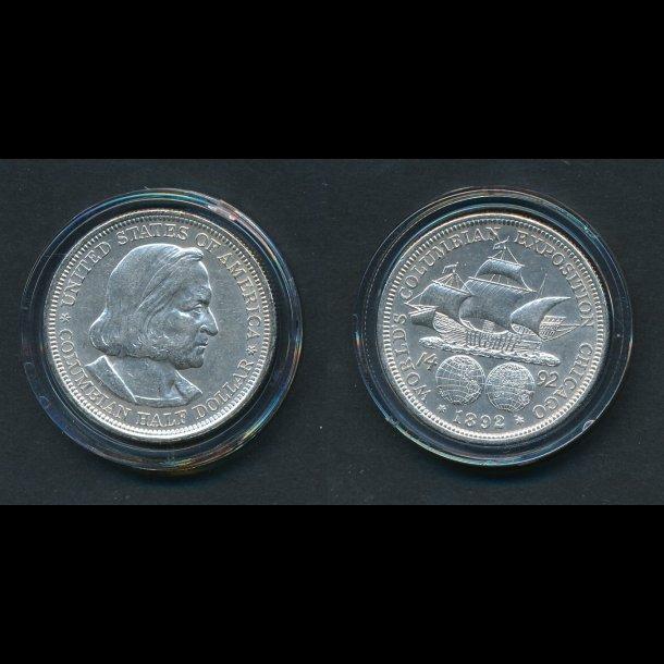 1892, USA, ½ dollar, Columbian , 1+