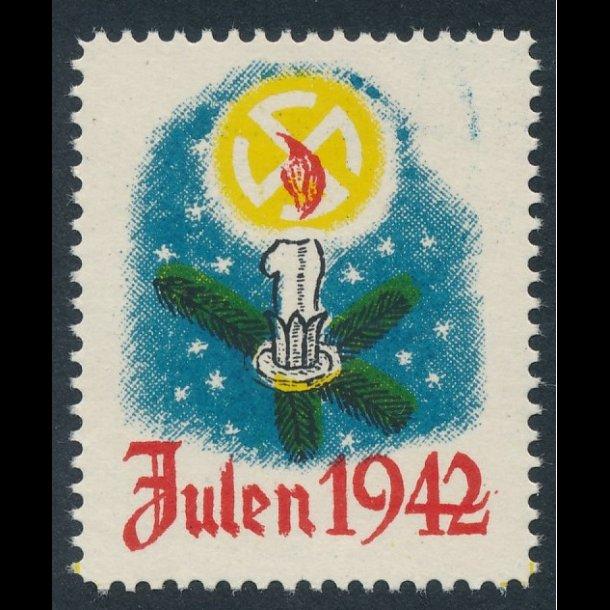 1942, Julemærke, * , dvs ** men pletter i gummien