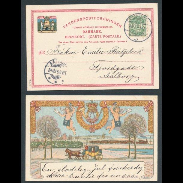 1905, Postkort, julemærke, stemplet 24.12.1905.