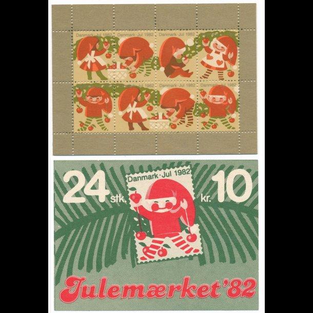 1982, Danmark, Julemærkehæfte,