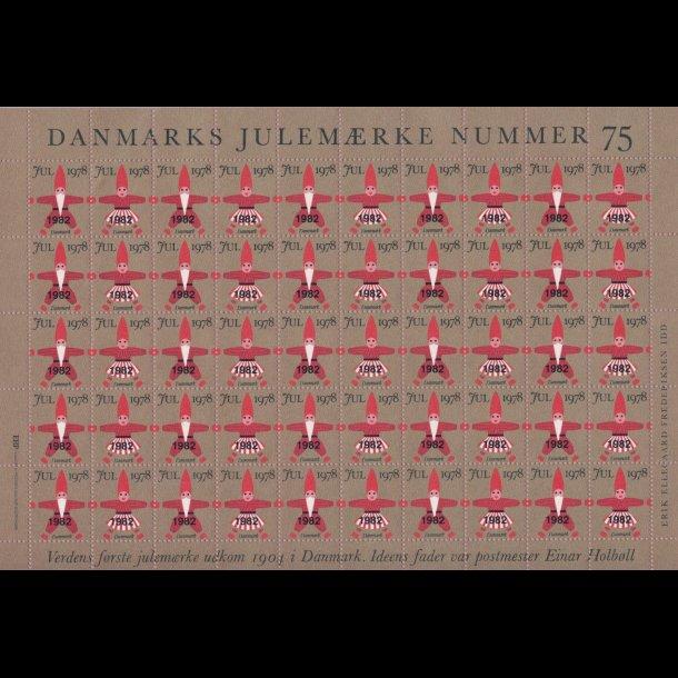 1982, Julemærker, helark, overtryk på 1978