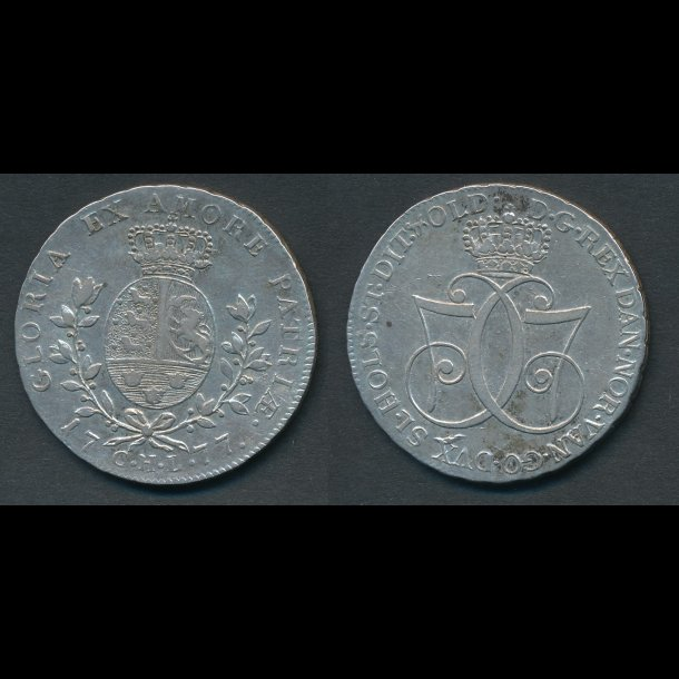 1777, Christian VII, 1 speciedaler, 1++
