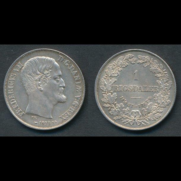 1854, Frederik VII, 1 Rigsdaler, VS, 01, (R147)