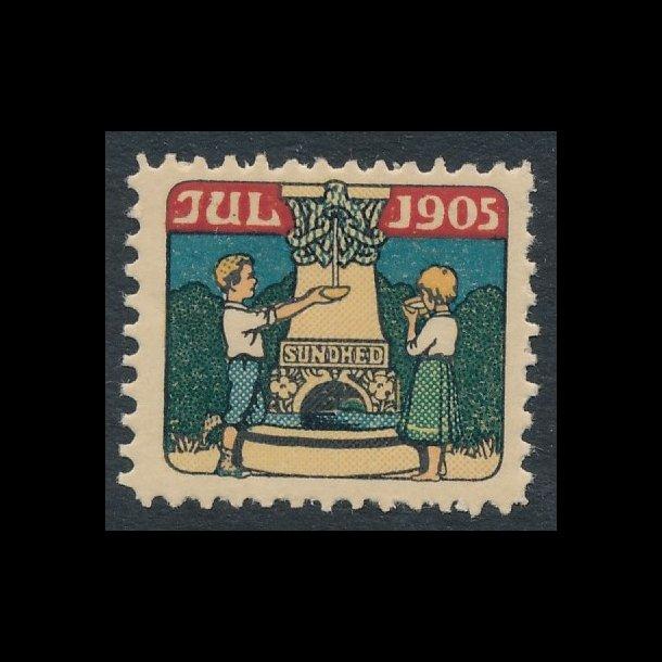 1905, Julemærke, Danmark, takket, Børn ved kilde, TILBUD