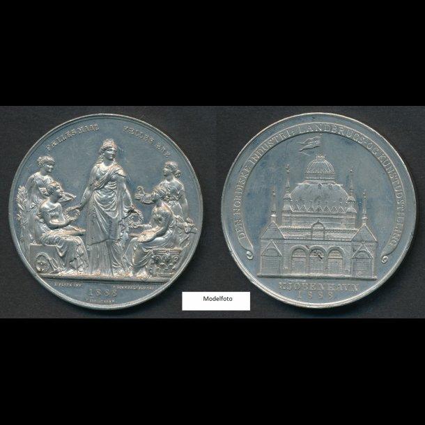1888, Den nordiske industri-, landbrugs-, og kunstudstilling, tin,  1+