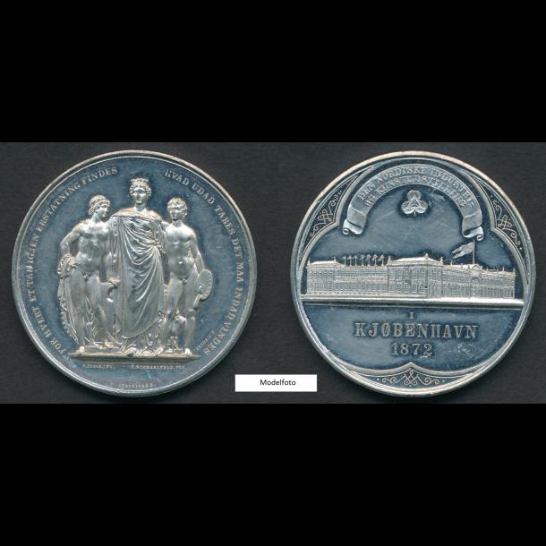 1872, Den Nordiske industri- og kunstudstilling, 55 mm, tin, 1+